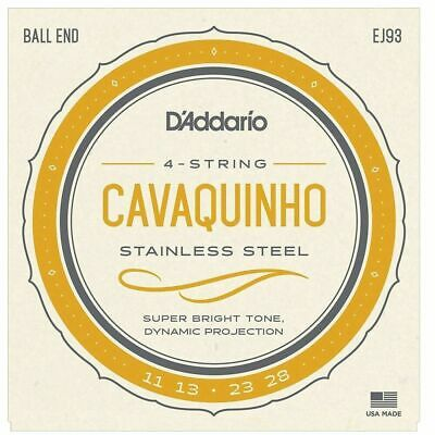 D'Addario EJ93 Stainless Steel Cavaquinho String Set - Ball End
