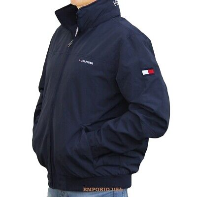 f791c6fc TOMMY HILFIGER Men's Yacht Jacket Water Stop Windbreaker Color Hood NWT