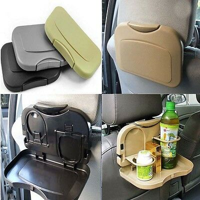 Universal Folding Car Back Seat Table Drink Cup Mobile Phone Tablet Tray Holder