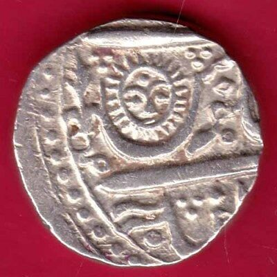Indore State - Sun Face - One Rupee - Rare Silver Coin#mp14