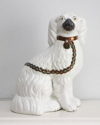 A Smart Antique Staffordshire Spaniel or 'Wally Dog', Separate Front Leg