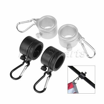 Aluminum Rotating Mounting Flag Pole Rings Flagpole Grommet Clip Attachment 2pcs