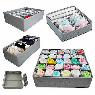 3x 6 cell 7 cell 24 cell Underwear Sock Tie Storage Organizer Drawer Bra Pants