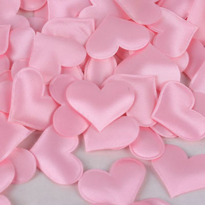 100pcs Satin Sponge Petals Handmade Heart Shape Wedding Party Valentines Day