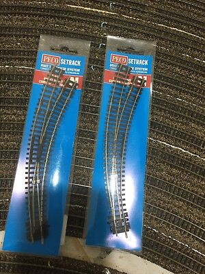 N Scale Peco curved set track points Right hand catalogue ST 44. 2 sets.