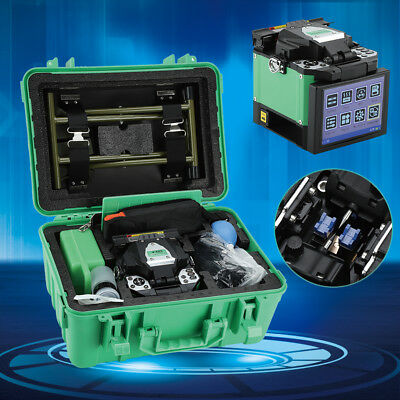 A-80S FTTH Optic Fiber Fusion Splicer&Cleaver Kit Fiber Welding Splicing Machine