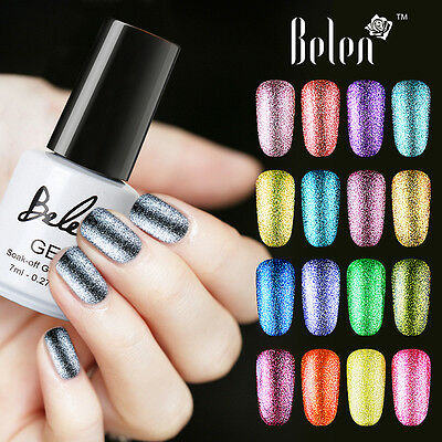 Belen Gel Nail Polish Platinum Gorgeous Shimmer UV LED Soak Off Top Base Coat