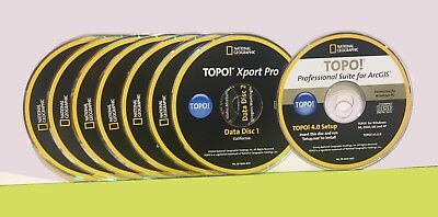 NATIONAL GEOGRAPHIC TOPO! Xport PRO+50 states maps (Use) for ArcGIS