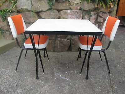 RETRO KITCHEN TABLE AND CHAIRS. Ringwood Nth, Vic.