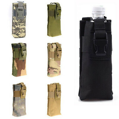 MOLLE Tactical Strong Water Bottle Nylon Camping Carrier Bag Pouch Hold on Belt