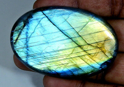 161Cts. Natural Multi Labradorite Cabochon Gemstone Oval ;#3953