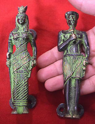 Antique Brass King Queen Door Pull For Chess Lover Raja Rani Style Handle BM 436