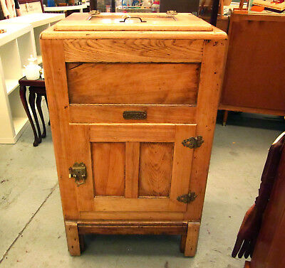Collectable Antique Buffalo American Oak Ice Chest/meat Safe - New York, Usa