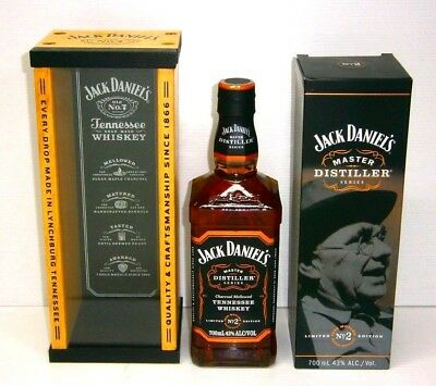 Jack Daniels Master Distillers No2 Jess Motlow 700ml bottle & Wooden Box New
