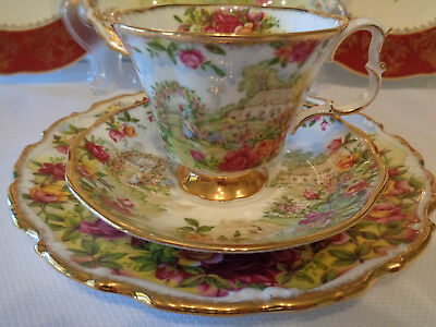 Royal Albert Trio -** Celebration Of The Old Country Roses Garden** - Pristine