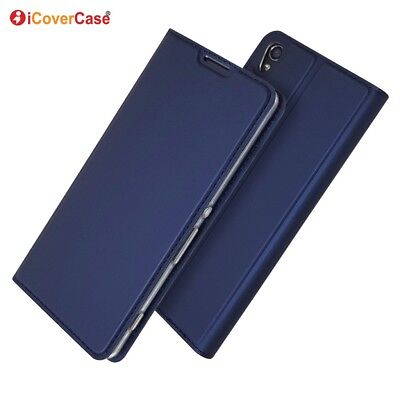 Ultra-thin PU Leather Flip Wallet Case Stand Cover For Sony Xperia XA