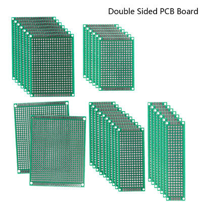 32PCS Double Sided PCB Proto Perf Board Through Plated 2x8 3x7 4x6 5x7 7x9cm