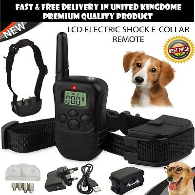 Anti-Bark & Rechargeable LCD Electric Shock E-Collar Remote Control Dog Training