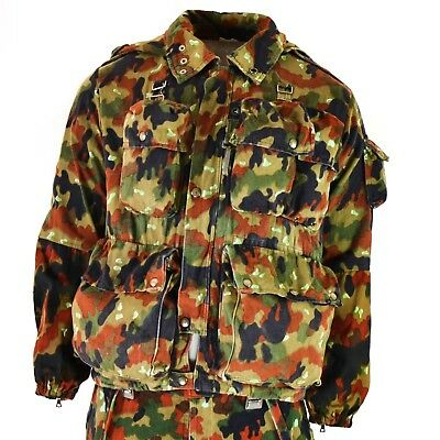 Genuine Swiss army jacket M70 Alpenflage Camo sniper combat hooded parka