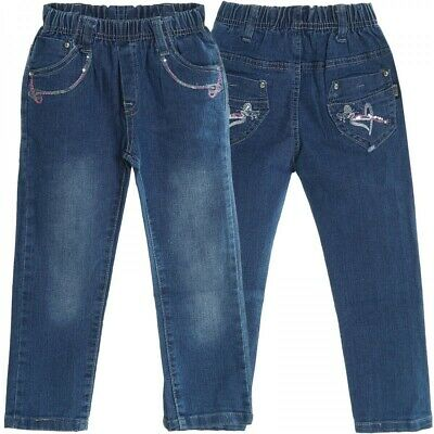 Baby Mädchen Jeans Hose Röhre Straight Fit Skinny Sommer Stretch Bootcut 20503