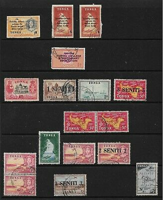 Tonga Small selection all Used as per scan