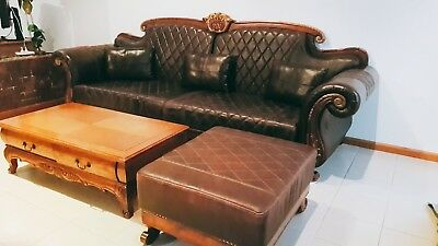 Leather Sofa Set [Brown] *table not included*