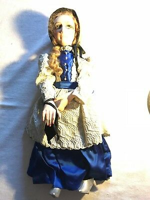 ANTIQUE SALON DOLL BED DOLL  BOUDOIR YEAR 1925/30 FASHION ART DECO 43 Cm height