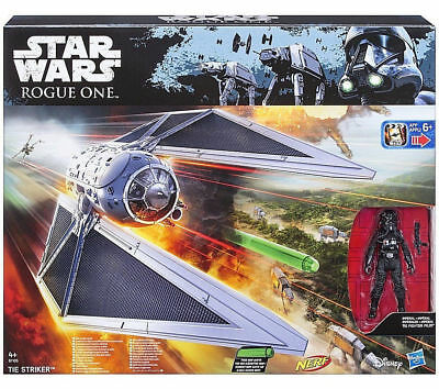 Disney Star Wars Rogue One Tie Striker with Nerf Darts Vehicle & action figure