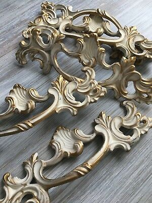 French Provincial Metal Drawer Pull Hardware New Old Stock