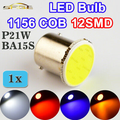 1156 COB BA15S LED Bulb P21W 12SMD White / Red / Blue / Yellow Car Lamp Automoti