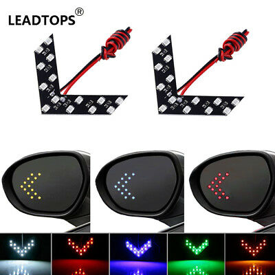 2 Pcs/lot 14 SMD LED Arrow Panel For Car Rear View Mirror Indicator Turn Signal