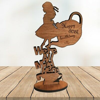 We're all mad here Personalised Engraved Gift Alice in wonderland birthday