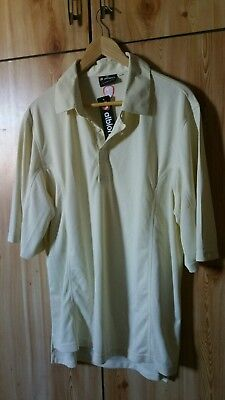 Albion Cricket Shirt XXXL ( Cream - Ivory ) Shott Sleeve BRAND NEW