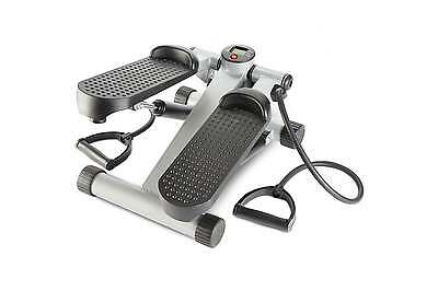 Andrew James Aerobic Fitness Mini Stepper Exercise Machine With Resistance Cords