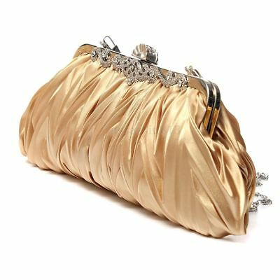 Fashion Lady Party Wedding Handbag Purse Girl Soft Evening Bag Bridal Women Sati