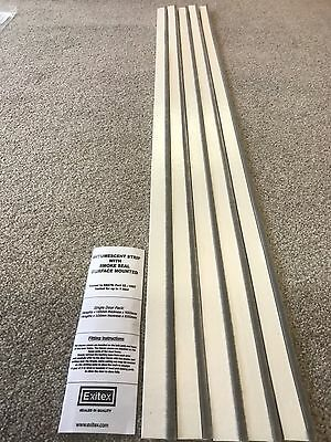 Surface Mounted Intumescent Strips 1 Set White Exitex Fire & Smoke Door Seals