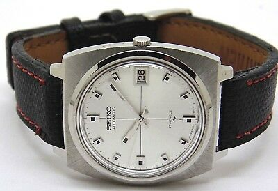 New Old Stock Seiko 7005 Automatic Men Steel Date Japan Rare Watch Run Order