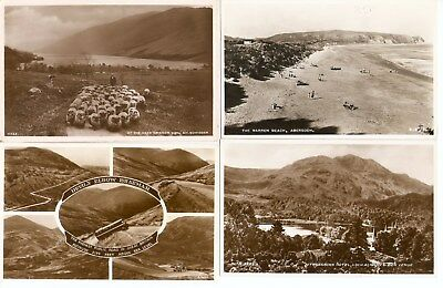4 x Early RP Postcards of Scotland inc. At the Head of Loch Voil, Balquhidder