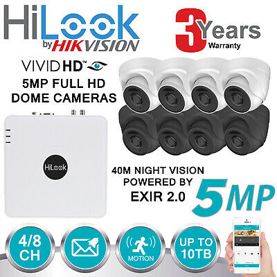 Hikvision 5Mp Cctv System Uhd 4K Dvr 4Ch 8Ch Exir 40M Night Vision Camera Kit Uk