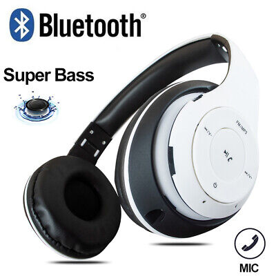 Super Bass Wireless Bluetooth Headsets with Mic Stereo Headphones HiFi Earphone