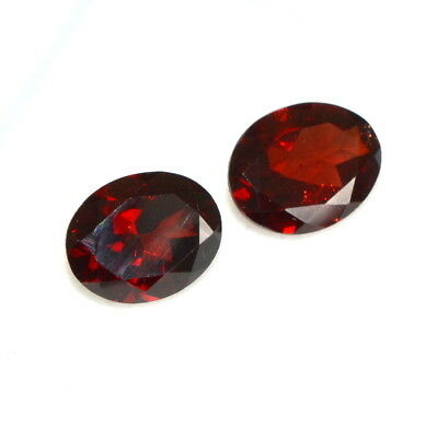 5.04 Cts Natural Red Garnet Oval Cut Pair 10x8 mm Red Shade Loose Gemstones