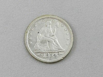 1854 Seated Liberty Quarter with Arrows,  Nice Early Silver Type Free Shipping!