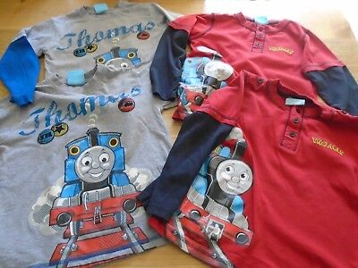 Boys Thomas the Tank long sleeved tops age 6 - 7 suitable for Twins - 2 sets