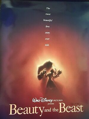 Beauty And The Beast/2 Sided Movie Poster/ John Alvin/Hand Signed/ Disney