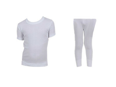 Kids Cotton Rich Thermal T-Shirt and Pants Set FREE DELIVERY