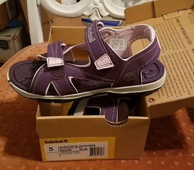 NEW Timberland Girl's Mad River 3892R Purple Sandals Size 5