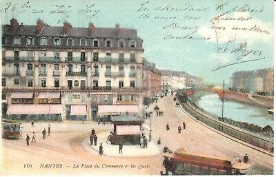 Carte Postale - (44) Loire Atlantique - CPA - Nantes - La Place du Commerce