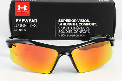 79c83c2375b New Under Armour Zone Sunglasses Black frame   Orange Multiflection Mirror  lens