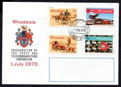 Rhodesia - 1970 Telecommunications First Day Cover
