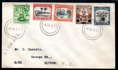 Western Samoa - 1947 Airmail Cover to New Zealand